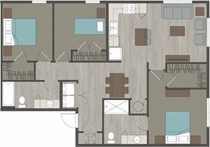 Lofts at LaVilla 3 Bedroom, 2 Bathroom