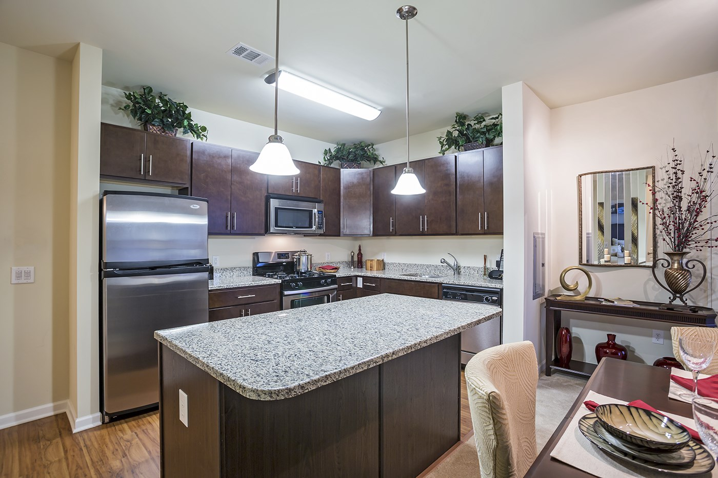 Spacious Kitchen at The Reserve at Riverdale Apartments in Riverdale, NJ
