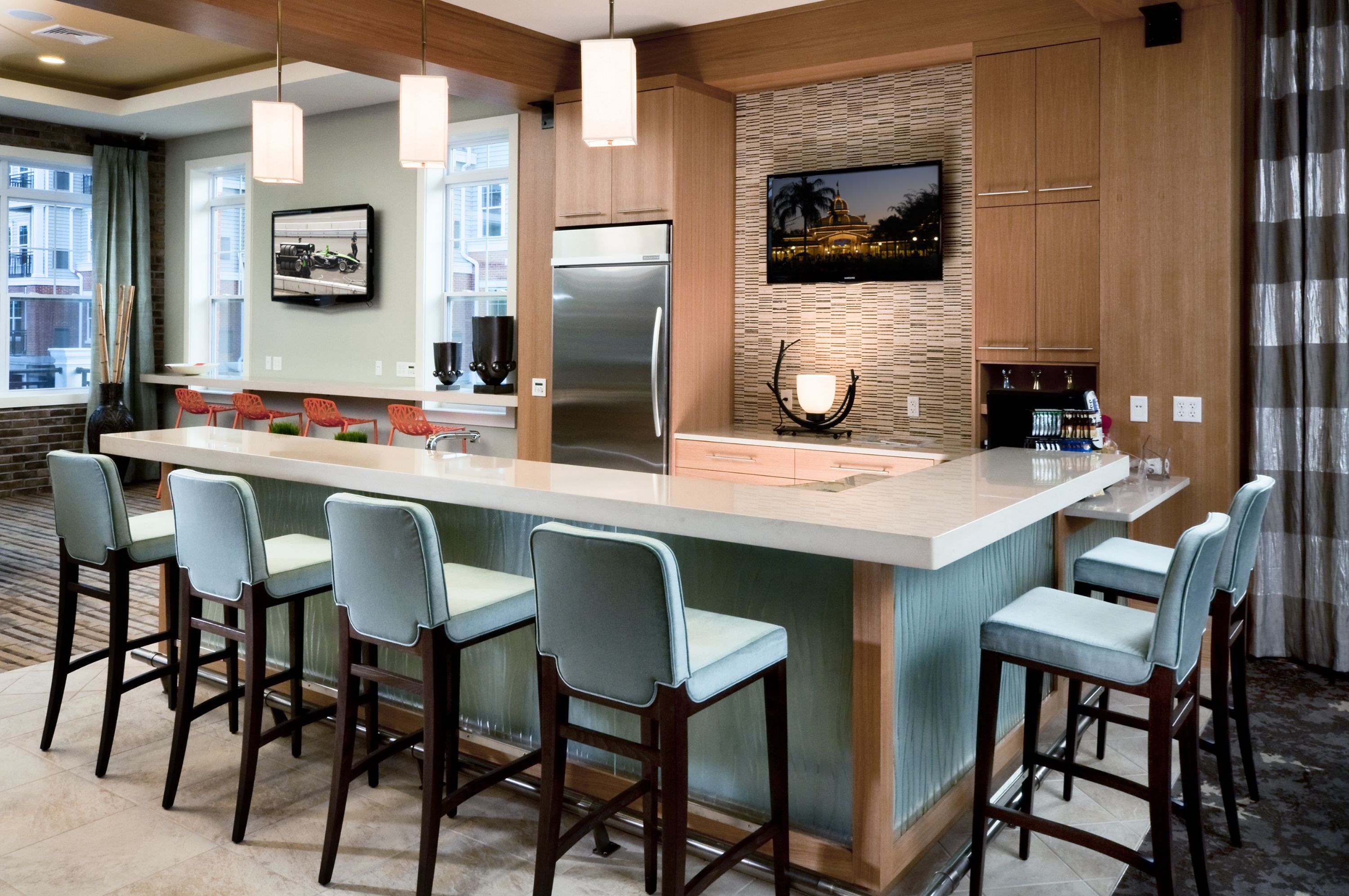 Clubhouse Kitchen at The Reserve at Riverdale Apartments in Riverdale, NJ
