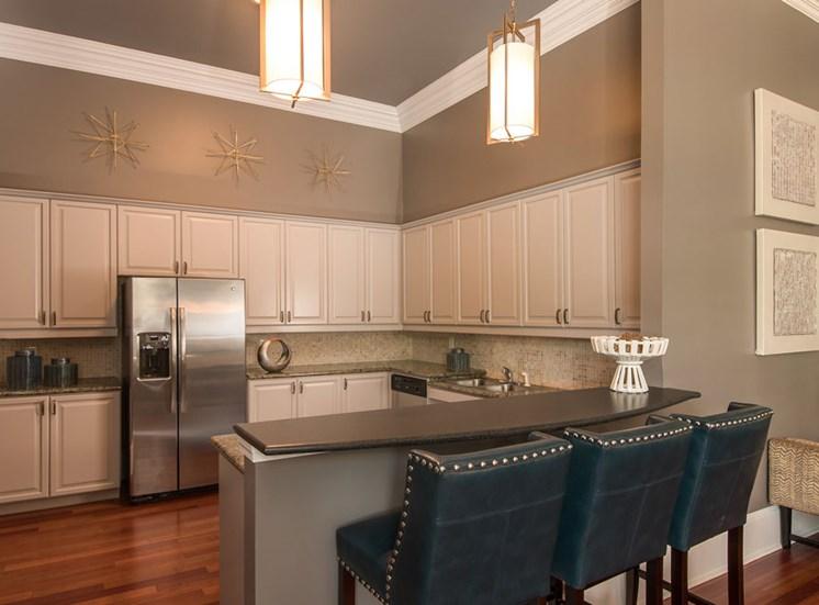 Community Kitchen with Stylish Finishes & Crown Molding