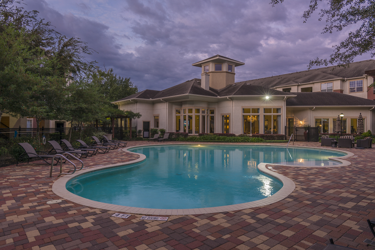 Luxurious Swimming Pool at Marquette at Piney Point, Houston, TX, 77063
