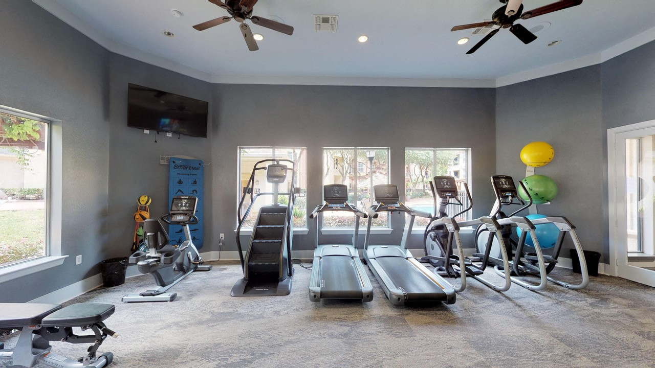 Cardio Studio Equipment at Marquette at Piney Point, Texas, 77063