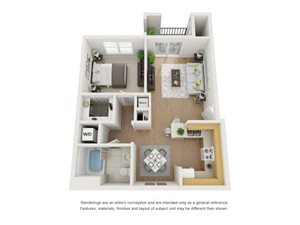 Aspen 3D Floor Plan at Marquette at Piney Point, Houston, TX, 77063