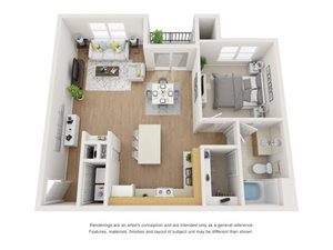Barberry 3D Floor Plan at Marquette at Piney Point, Houston