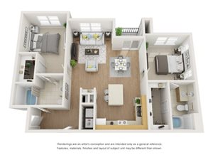 Ash 3D Floor Plan at Marquette at Piney Point, Houston, TX