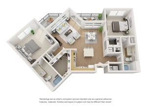 Spruce 3D Floor Plan at Marquette at Piney Point, Houston
