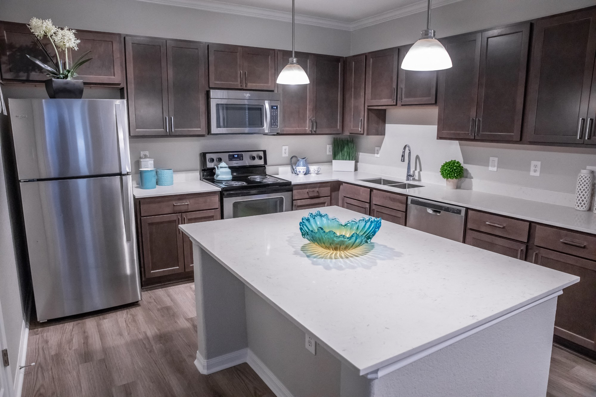 Designer Granite Countertops at Marquette at Piney Point, Houston