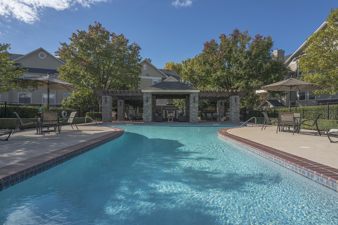 Relaxing Pool at Marquette at Preston Park, Plano, TX, 75093