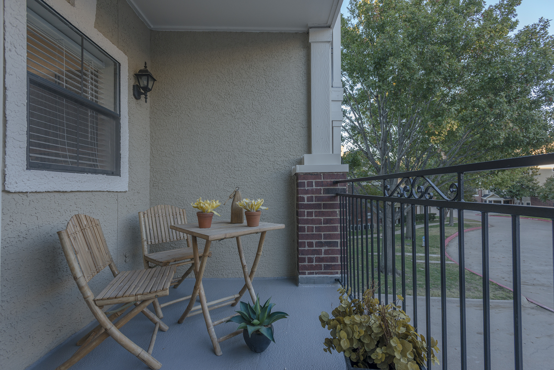 Oversized Patio or Private Balcony at Marquette at Preston Park, Plano, TX, 75093