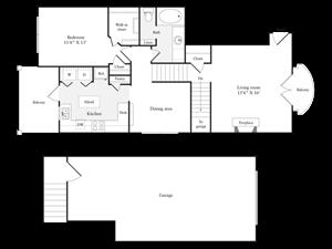 E Floorplan at Marquette at Preston Park, Plano, TX, 75093