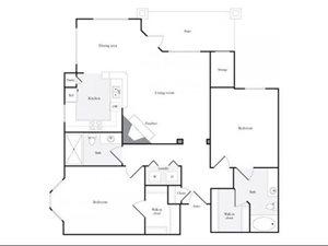 G Floorplan at Marquette at Preston Park, Plano, TX, 75093