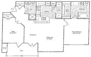 C Floorplan at Marquette at Preston Park, Plano, TX, 75093