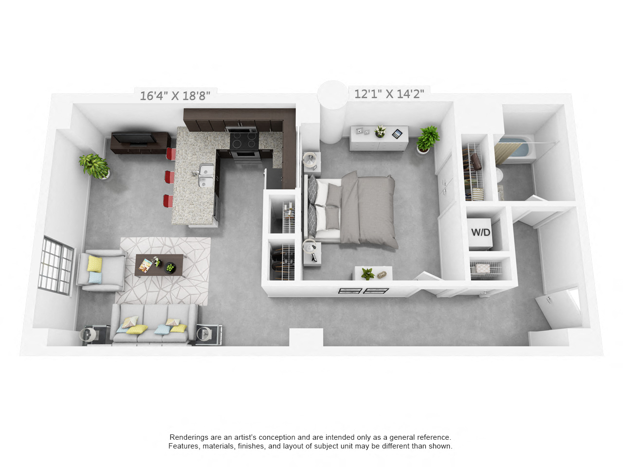 Luxury 1 2 3 Bedroom Apartments In Winston Salem Nc Plant 64 Power General Layout Suite A Floorplan