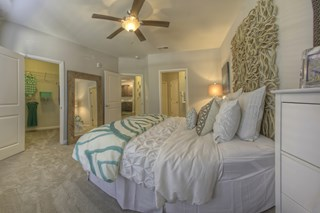 Spacious bedroom with a huge walk in closet