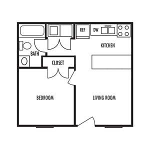 The Chalet Floor Plan at Alexander Place Apartments in Salisbury, North Carolina, NC