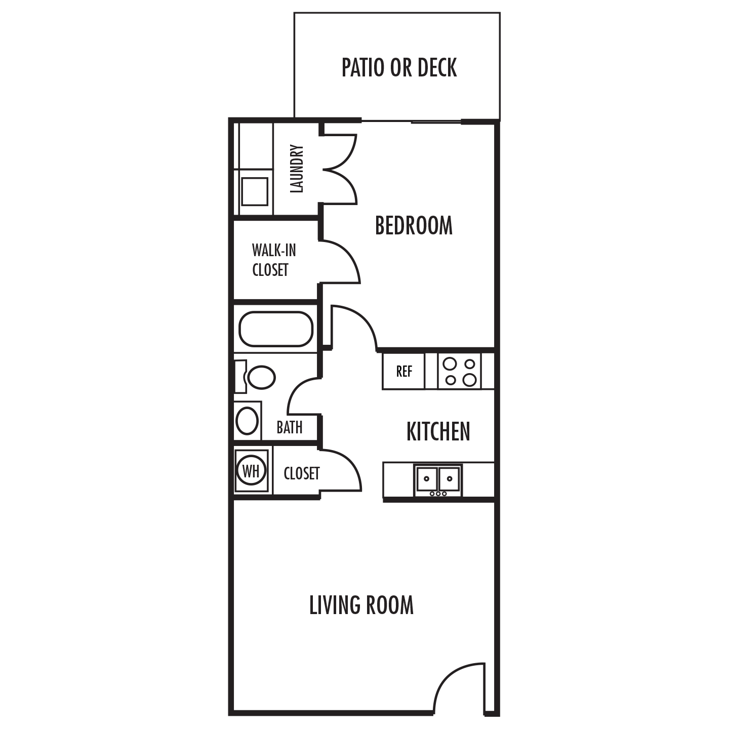 The Estate Floor Plan at Alexander Place Apartments in Salisbury. North Carolina, NC