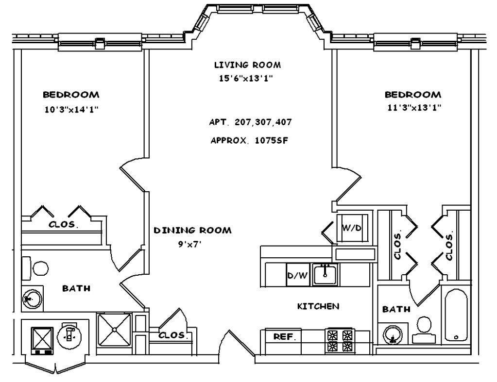 Bay Window Floor Plan 4