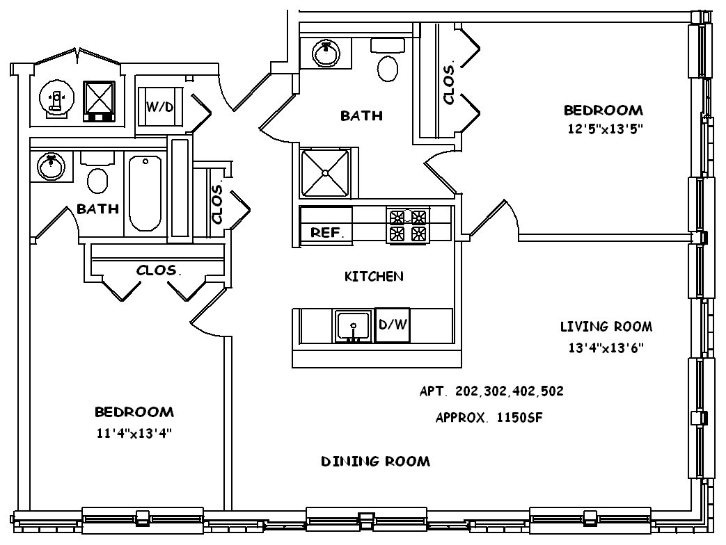 Corner - East Floor Plan 3