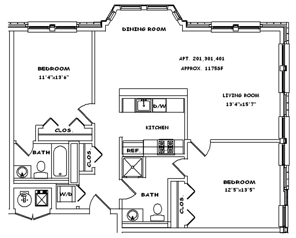 Corner with Balcony Floor Plan 8