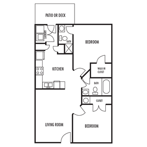 The Haven Floor Plan at Forest RIdge Apartments in Lexington, North Carolina, NC
