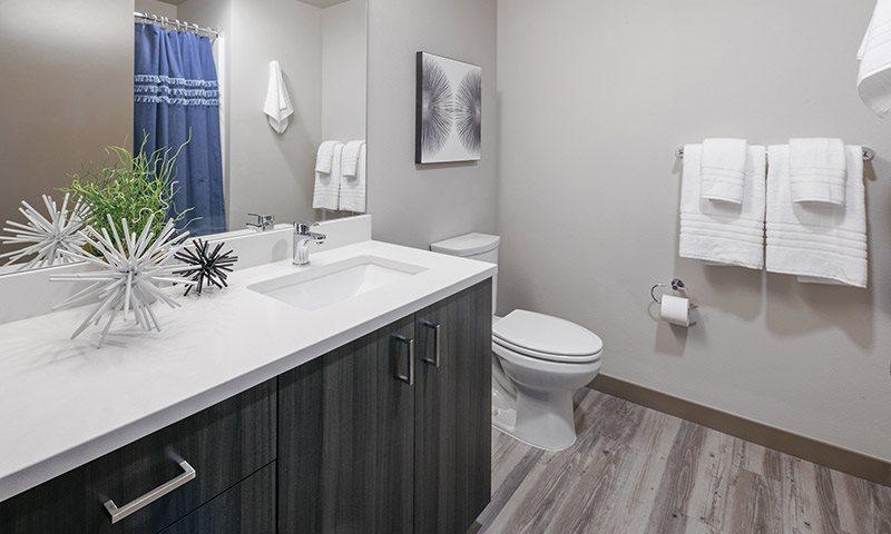 Bathroom with Hardwood Inspired Flooring, Sanctuary in Portland, OR 97239