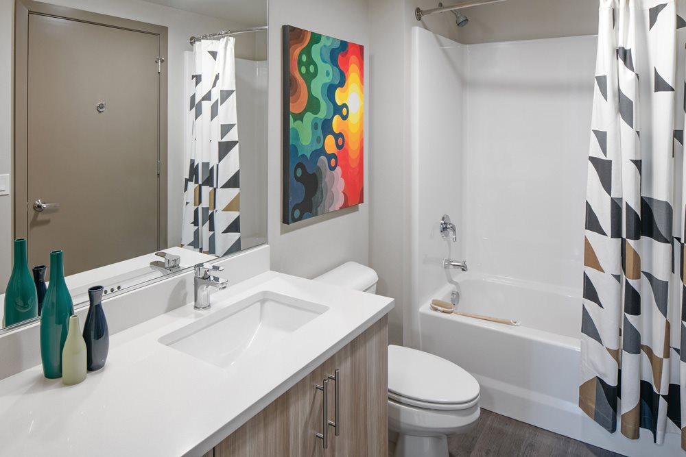 Spacious Bathroom at Bridgetown Lofts, Portland, OR 97209