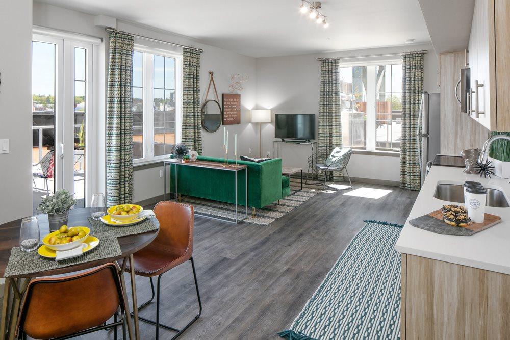 Open Layout Floorplan at Bridgetown Lofts, Portland, OR 97209