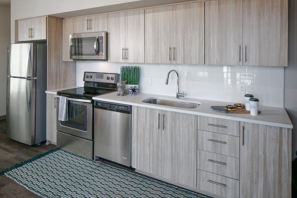 Modern Kitchen at Bridgetown Lofts, Portland, OR 97209