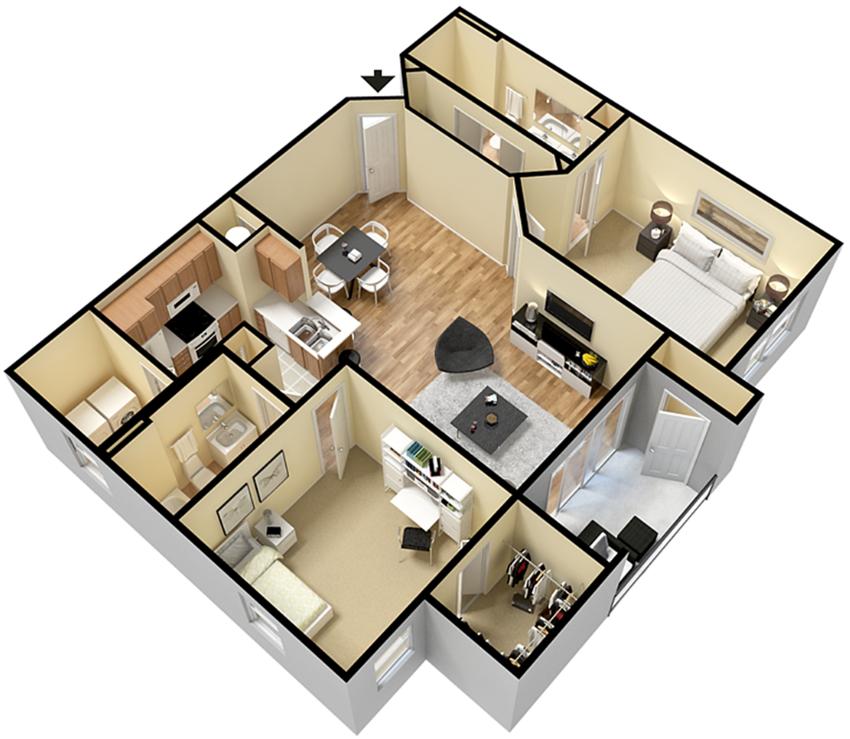 Rapallo Apartments Naples floor plan
