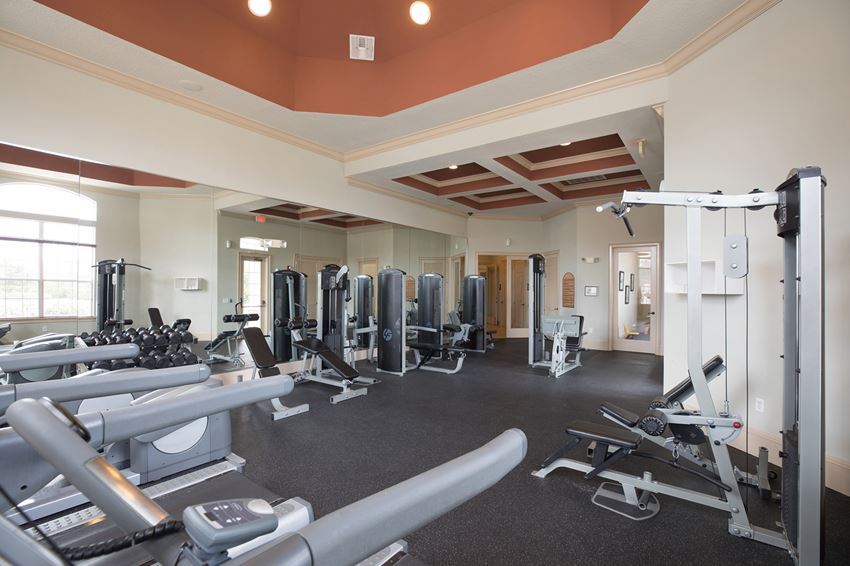 Rapallo Apartments newly renovated fitness center with natural lighting
