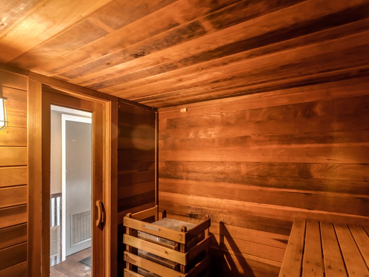 Wet or dry sauna at The Retreat at Woodridge Apartments in Lenexa, KS
