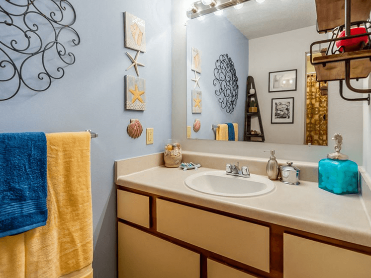 Bathroom atThe Retreat at Woodridge Apartments
