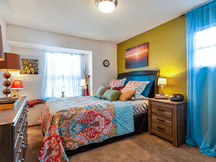 Bedroom at The Retreat at Woodridge Apartments