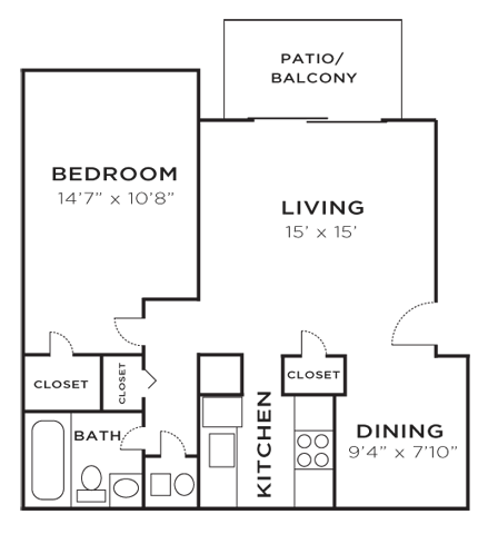 1 bedroom apartments at The Retreat