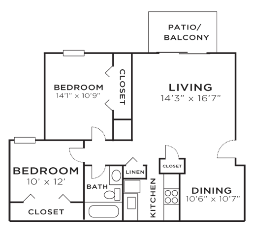 Floor Plans Of The Retreat At Mill Creek Apartments In