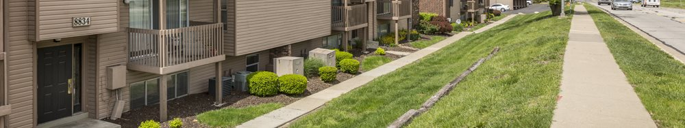 Sidewalks at The Retreat at Mill Creek Apartments in Lenexa, KS