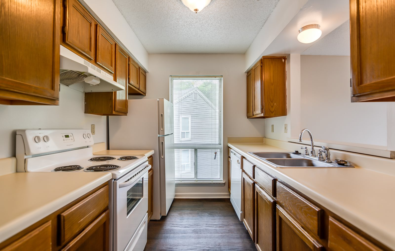 Updated kitchens at The Retreat at Woodlands Apartments in South Kansas City, MO