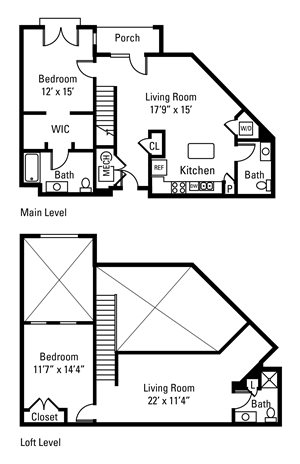 2 Bedroom, 2 Bath 1,507 sq. ft.
