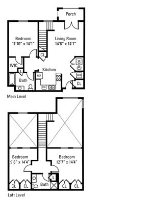 3 Bedroom, 2 Bath 1,374 sq. ft.