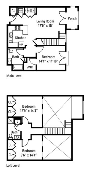 3 Bedroom, 2 Bath 1,390 sq. ft.