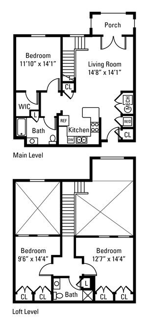 3 Bedroom, 2 Bath 1,391 sq. ft.
