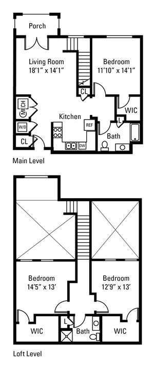 3 Bedroom, 2 Bath 1,469 sq. ft.