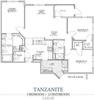Tanzanite (w/ garage)