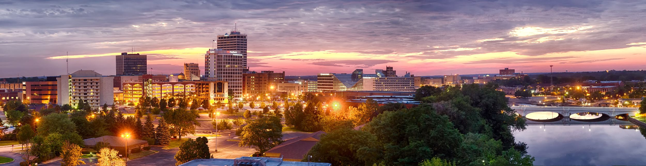 Downtown South Bend Skyline