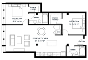 Floor plan at C&E Living, St Paul