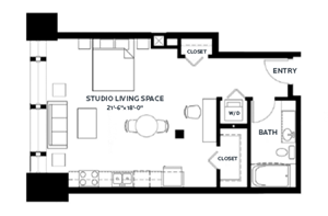 Floor plan at C&E Living, St Paul, Minnesota