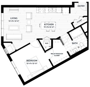 Floor plan at C&E Living, St Paul, MN