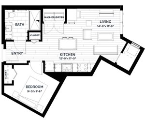 Floor plan at C&E Living, St Paul, 55114