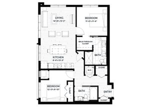 Floor plan at C&E Living, Minnesota, 55114