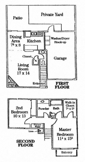 Two Story Townhome with Patio